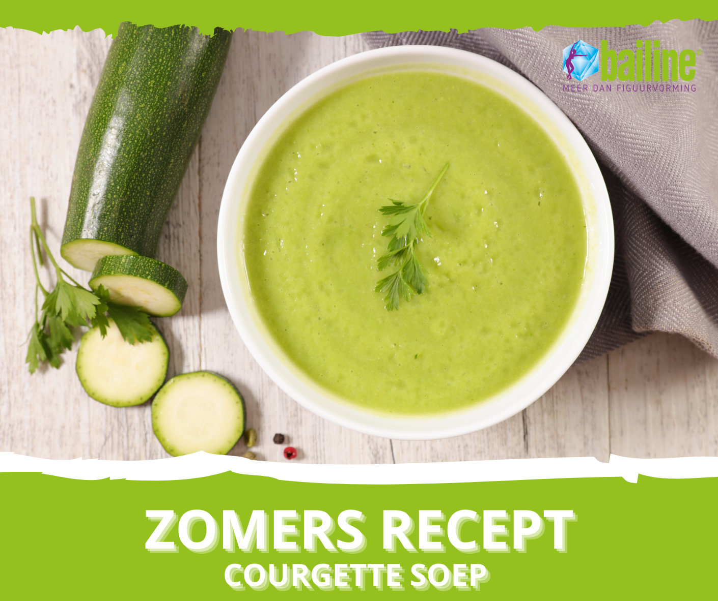Zomers recept: Courgette soep